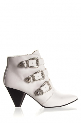 Janet & Janet | Leather ankle boots Cleo | white