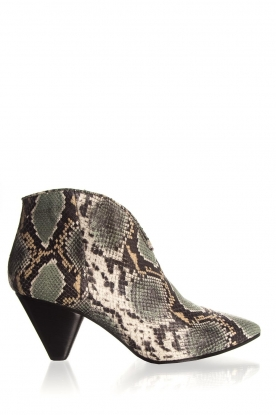 Janet & Janet | Leather ankle boots Nina | print