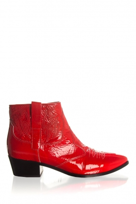 Janet & Janet | Leather ankle boots Sofia | red