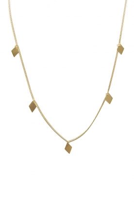 Mimi et Toi |  Necklace with diamond shapes Josephine | gold