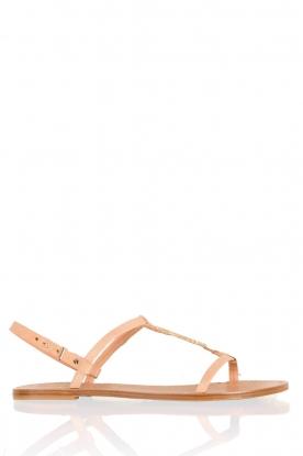 Leren sandaal Roelie | nude