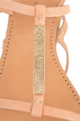 Hoss Intropia | Leren sandaal Roelie | nude
