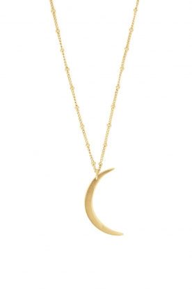 Mimi et Toi |  18k gold plated moon necklace Lunette | gold