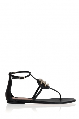 ELISABETTA FRANCHI |  Leather sandals Elina | Black