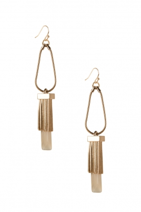 Golden earrings Rosi | gold