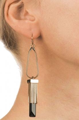 Hoss Intropia | Gouden oorbellen Rosi | goud