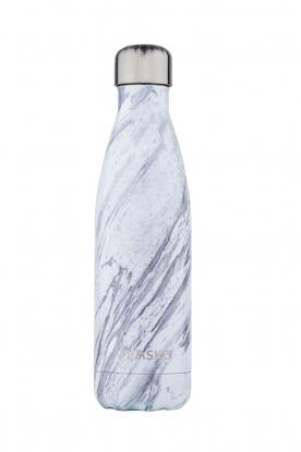Flaske | Thermosfles Marble Ice warm/koud 500 ml | wit