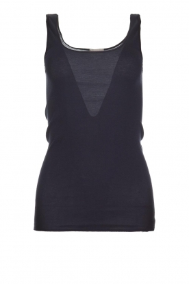 Hanro |  Cotton sleeveless top Coline | blue