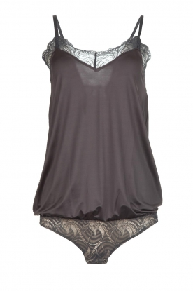 Hanro |  Body with lace Ilsa | grey