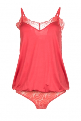 Hanro |  Body with lace Ilsa | red