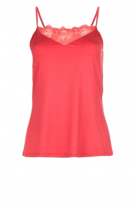 Hanro |  Top with lace Jolina | red