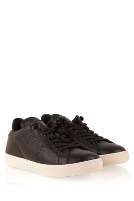 Leather Crown | Leren sneakers Dory | zwart