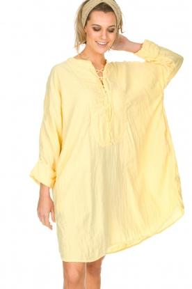Rabens Saloner | 100% katoenen jurk Olivia | geel