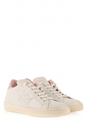 Leather Crown | Leren sneakers Diana | wit