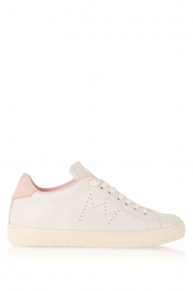 Leather Crown |  Leather sneakers Diana | white