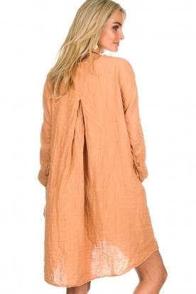 Rabens Saloner | 100% katoenen jurk Olivia | Roestbruin