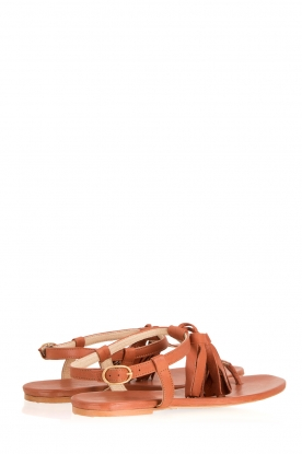 Maluo | Leren sandaaltjes Honolulu | bruin