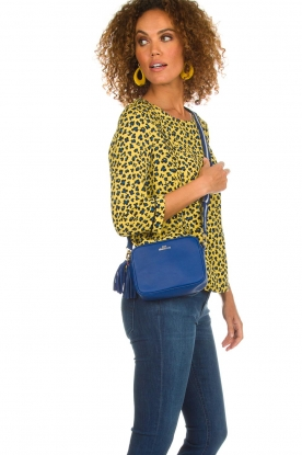 Becksöndergaard |  Leather shoulder bag Lullo Rua | blue