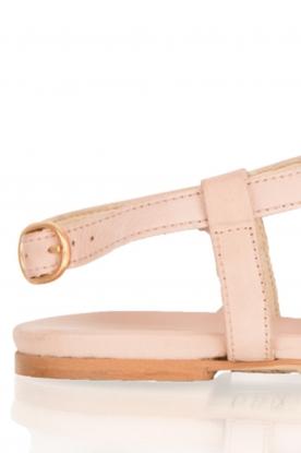 Maluo | Leren sandaaltjes Honolulu | nude