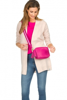 Becksöndergaard |  Leather shoulder bag Lullo Rua | pink
