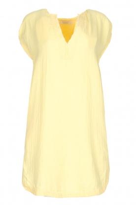 Rabens Saloner | 100% katoenen jurk Olga | Geel