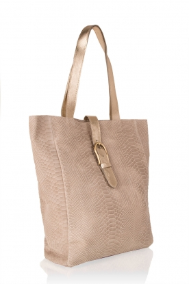 Leather shoulder bag Eden | beige