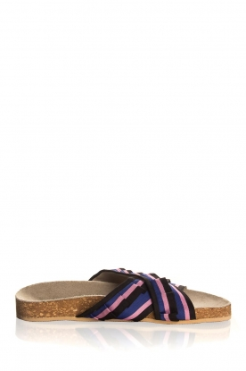 Becksöndergaard |  Printed leather sandals Gary | black
