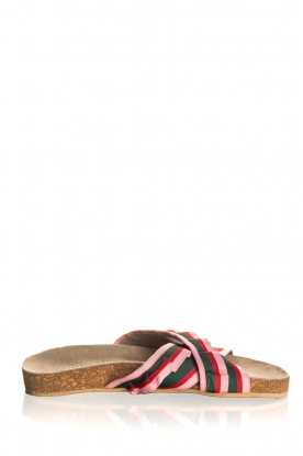 Becksöndergaard |  Printed leather sandals Gary | pink
