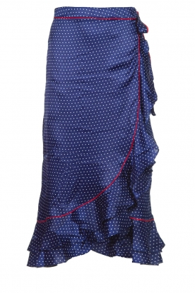 Becksöndergaard |  Midi skirt with polkadot pattern Calista Lena | blue