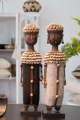 Little Soho Living |  Namji doll with shells Owen | black