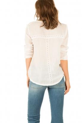 Hoss Intropia | Linnen blouse Olivia | wit