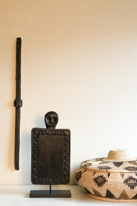 Little Soho Living |  Stand with wooden guard | black
