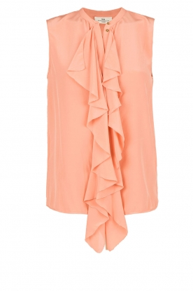 DAY Birger et Mikkelsen |  Silk top Fan | salmon pink