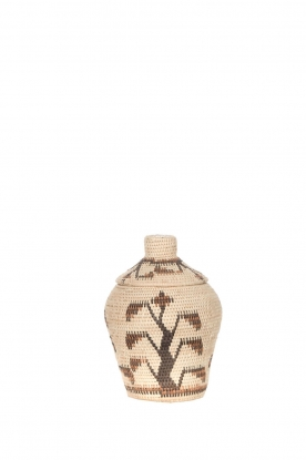 Little Soho Living | Printed rattan basket Lucy - small | natural