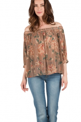 DAY Birger et Mikkelsen | Off-shoulder top Kiku | bruin
