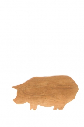 Little Soho Living |  Wooden cutting board Pig | brown
