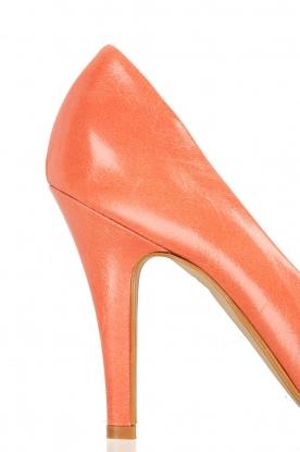 Leren pumps Nicole | coral