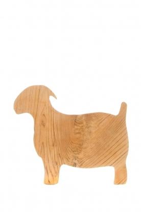 Little Soho Living    Wooden cutting board Goat   brown