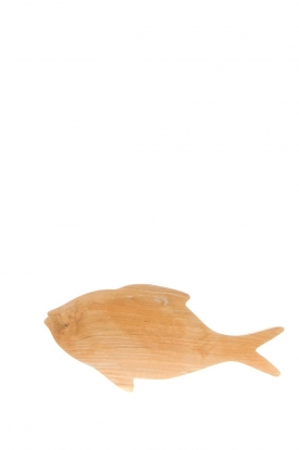 Little Soho Living |  Wooden cutting board Fish | brown