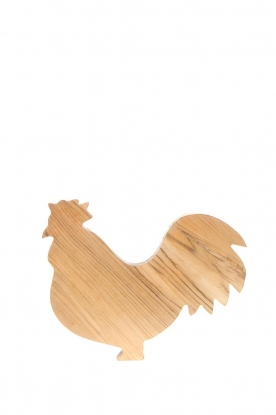 Little Soho Living |  Wooden cutting board Rooster | brown