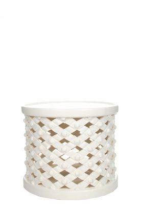 Little Soho Living |  Side table Reese - low |  white