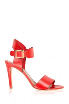 Noe | Leren sandalen Nabila | rood