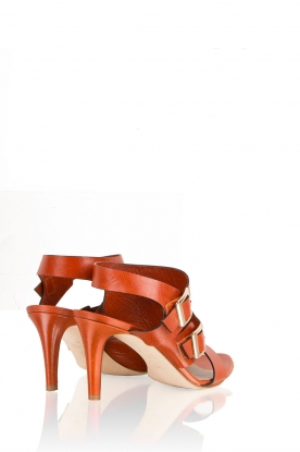 Noe | Leren sandalen Numa | roest