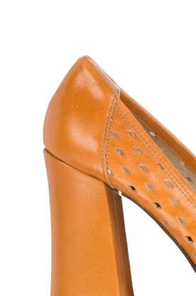 Leather mesh pump Nicla | nut
