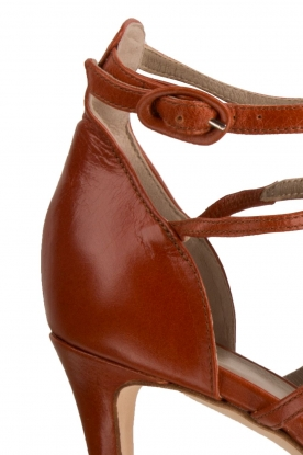 Leather fringe sandals Numa | rust