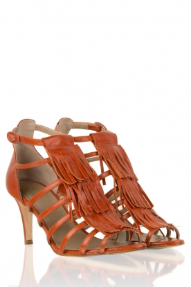 Noe | Leren fringe sandalen Numa | bruin