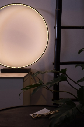 Little Soho Living |  Round lamp Moon | black