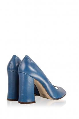 Noe | Leren pump Nicla | blauw