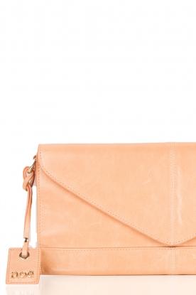 Leather clutch Nia | nude