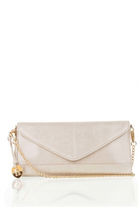 Leather clutch Nia | grey